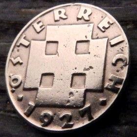 2 Гроша,1927 года,Монета, Монети,Osterreich, Австрия, 2 groschen1927, Austria,Австрія, Крест, Cross.