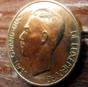 5 Франков, 1986 года, Герцогство Люксембург, Монета, Монеты, 5 Franks1986, Letzeburg, Luxembourg,Рослинний орнамент,растительный орнамент,floral ornament,Корона, Crownна монете,Великий герцог Жан на монете.