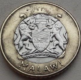 10 Квача, 2006 года, Малави, Монета, Монеты, 10 Kwacha 2006, Malawi, Селянин збирає врожай, The peasant harvests, Крестьянин собирает урожай на монете, Coat of arms of Malawi, Герб Малави на монете.