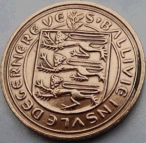 2 Пенса, 1971 года, Гернси, Монета, Монеты, 2 New Pence 1971, Guernsey,Вітряк, Windmill, Ветряная мельницана монете, Coat of Arms, Герб, Fauna, Фауна, Lions, Львы на монете.