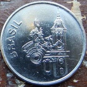 20 Крузейро,1983 года, Бразилия, Монета, Монеты, 20 Cruzeiros 1983, Brasil, Архітектура,Architecture,Архитектура на монете.