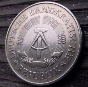 5 Марок,1969 года, ГДР, Германия, Німеччина,Монета, Монеты, 5 Mark1969,DDR, XX JAHRE DDRна монете,Spikelets, Колоски,Hammer, Молоток на монете.