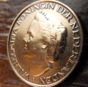 5 Центов, 1948года, Нидерланды, Монета, Монеты, 5Сents1948, NEDERLAND,Королева Вильгельмина на монете.