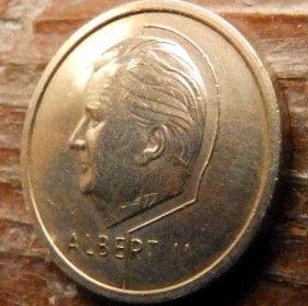 20 Франков, 1996 года, Королевство Бельгия, Монета, Монеты, 20 Francs 1996, Belgium, Belgique, Belgie,КорольАльбертIIна монете.