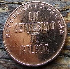 1 Сентесимо, 2001 года,Панама, Монета, Монеты, 1 UnCentesimo2001,Republica de Panama,Urraca,Урракана монете.