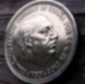 2,50Песеты, 1953 года, Испания, Монета, Монеты, 2,50Pesetas 1953, Espana,Spain,Герб, Стріли, Arrow,Стрелы,Фауна, Bird,Птица, Eagle,Орел,Корона, Crown, Lion,Лев на монете,Франсиско Франко на монете.