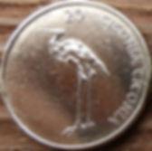 20 Толаров, 2004 года,Словения,Монета, Монеты,20 Dvajset Tolarjev 2004, Republika Slovenija,Fauna, Фауна, Пташка, Bird,Птица, Лелека, Stork,Аистна монете.