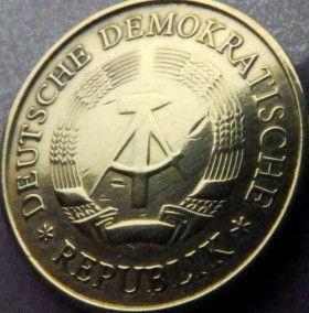 20 Пфеннигов,1969 года, ГДР, Германия, Німеччина,Монета, Монеты, 20 Pfennig 1969,DDR,Spikelets, Колоски,Hammer, Молоток на монете.