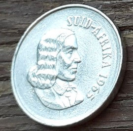 10 Центов, 1965 года, ЮАР,Монета, Монеты, 10 Cents1965,South Africa,Suid-Afrika, Flora, Aloe, Флора, Алоэ на монете, Jan van Riebeeck,Ян ван Рибекна монете.