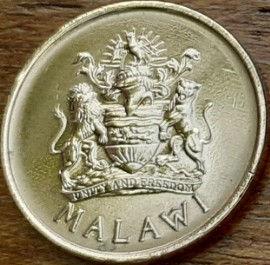 2 Тамбала, 1995 года, Малави,Монета, Монеты, 2 Tambala 1995, Malawi,Фауна, Пташка,Райський птах, Fauna, Bird,Paradise Bird, Фауна, Птица,Райская птица на монете, Coat of arms of Malawi,Герб Малавина монете.