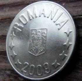 10 Бани,2009 года,Румыния,Монета, Монеты,10 Bani 2009, Romania, Coat of Arms, Герб,Fauna, Фауна, Пташка, Bird,Птица, Eagle, Орел на монете.