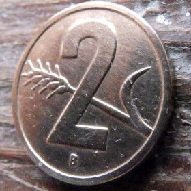 2 Раппена,1954 года, Швейцария,Монета, Монети,2 Rappens1954, Helvetia, Швейцарія, Switzerland,Spikelet, Колосок на монете, Coat of arms,Герб на монете.