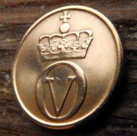 2 Эре, 1967 года, Норвегия, Монета, Монеты, 2 Ore 1967, Norge, Fauna, Фауна, Пташка, Bird,Птица, Black grouse,Тетерев на монете,Crown,Корона, Monogram,ВензельКороляОлафа V на монете.