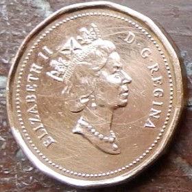 1 Цент, 1992 года,Канада, Монета, Монеты, 1 Cent 1992, Canada,Флора, Кленове листя,Flora, Maple leaves, Флора, Кленовые листьяна монете, Королева Elizabeth II, Елизавета IIна монете, Третий портрет королевы.