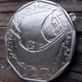 50 Эскудо, 1987 года, Португалия, Монета, Монеты, 50 Escudos 1987, Republica Portuguesa,Portugal,Coat of Arms, Герб на монете,Ship,Корабль на монете.