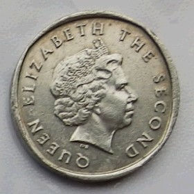 2 Цента, 2004 года, Восточно-Карибские штаты, Монета, Монеты, 2 TwoCents 2004, East Caribbean States,Флора, Гілки дерева,Flora, Tree branches, Флора, Ветви дерева на монете,Королева Elizabeth II, Елизавета IIна монете, Четвертый портрет королевы.