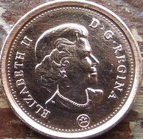1 Цент, 2012 года,Канада, Монета, Монеты, 1 Cent 2012, Canada,Флора, Кленове листя,Flora, Maple leaves, Флора, Кленовые листьяна монете, Королева Elizabeth II, Елизавета IIна монете, Четвертыйпортрет королевы.