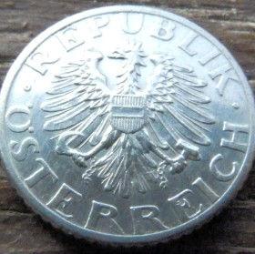 50 Грошей,1947 года,Австрия,Монета, Монети,Osterreich, Fünfzig groschen1947, Austria,Австрія,Колоски на монете,Spikelets, Герб, Орел.