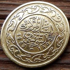 100 Миллимов, 1983 года, Тунис,Монета, Монеты, 100 Millims 1983,Tunisia,Ornament,Орнаментна монете.