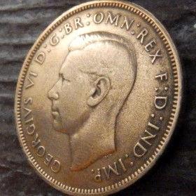 1 Пенни, 1939 года,Великобритания, Монета, Монеты, One Penny 1939, Море, Sea,Lighthouse, Маяк, Жінка воїн,Woman warrior, Женщина воин на монете, КорольGeorgivs VI,Георг VI на монете.