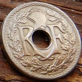 5 Сантимов, 1919 года, Франция,Монета, Монеты, 5Centimes 1919,REPUBLIQUE FRANСAISE, France,Helmet,Шлем, Рослинний орнамент,растительный орнамент,floral ornament.