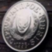 5 Центов, 1998 года, Кипр, Монета, Монеты,5 Cents 1998,Cyprus, Cow, Корована монете,Рослинний орнамент,растительный орнамент,floral ornament,Пташка, Bird,Птица,Голуб з оливковою гілкою, Pigeon with olive branch,Голубь с оливковой ветвью на монете.