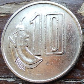 10 Песо,1981 года, Уругвай, Монета, Монеты, 10 Pesos 1981, Republica Oriental Del Uruguay,Флора,Квітка, Flora, Flower,Флора,Цветокнамонете, Jose Gervasio Artigas, Хосе Хервасио Артигасна монете.