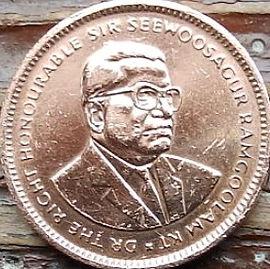 5 Центов, 2005 года, Маврикий,Монета, Монеты, 5 Five Cents2005, Mauritius,Seewoosagur Ramgoolam,Сивусагур Рамгуламна монете.