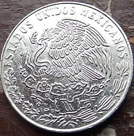 20 Сентаво, 1978 года,Мексика, Монета, Монеты, 20 Centavos 1978,Estados Unidos Mexicanos, Francisco Ignacio Madero Gonzalez, Франсиско Игнасио Мадеро Гонсалесна монете,Coat of arms of Mexico, Герб Мексикина монете.