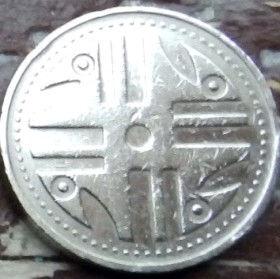 200 Песо,1996 года, Колумбия, Монета, Монеты, 200 Pesos 1996, Republica de Colombia, Ornament,Орнамент на монете.