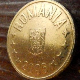 50 Бани,2006 года,Румыния,Монета, Монеты,50 Bani 2006, Romania, Coat of Arms, Герб,Fauna, Фауна, Пташка, Bird,Птица, Eagle, Орел на монете.