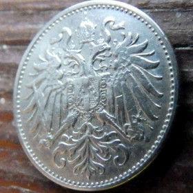 10 Геллеров, 1894 года,Австрия, 10Gellers, Монета, Монети,Austria, Hungary, Австрія, Австро-Венгрия, Герб Австро-венгрии,двуглавыйорел,двоголовий орел.