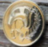 1 Цент, 1988 года, Кипр, Монета, Монеты,1 Cent 1988,Cyprus,Пташка, Bird,Птицана монете,Рослинний орнамент,растительный орнамент,floral ornament,Голуб з оливковою гілкою, Pigeon with olive branch,Голубь с оливковой ветвью на монете.