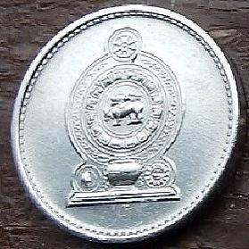 1 Цент, 1978 года,Шри-Ланка, Монета, Монеты, 1 Cent 1978, Sri Lanka,Ornament,Орнамент на монете,Emblem of Sri Lanka,Герб Шри-Ланки на монете.