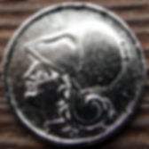 1 Драхма, 1926 года, Греция, Монета, Монеты, Міа Драхмн, 1 Drahm 1926, Greece,Goddess Athena, Богиня Афина на монете.
