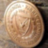 5 Милс, 1963 года, Кипр, Монета, Монеты, 5Mils 1963, Cyprus, Ship,Корабльна монете,Рослинний орнамент,растительный орнамент,floral ornament,Пташка, Bird,Птица,Голуб з оливковою гілкою, Pigeon with olive branch,Голубь с оливковой ветвью на монете.