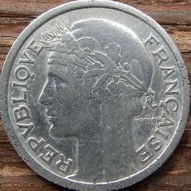1 Франк, 1941 года, Франция,Монета, Монеты, 1Franc 1941,RepubliqueFrancaise, France,Ріг достатку, Cornucopia,Рог изобилия на монете,Girl,Девушкана монете.