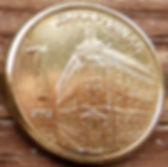 1 Динар, 2007 года, Сербия, Монета, Монеты, 1 Dinar 2007, Srbija, Србиjа,Serbia,Будівля Національного Банку Сербії,Building of the National Bank of Serbia,Здание Национального Банка Сербии на монете,Coat of Arms,Герб на монете.