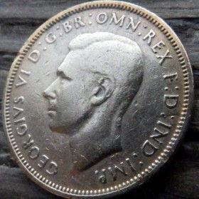 1/2, Пол Пенни, 1943 года,Великобритания, Монета, Монеты, Half Penny 1943, Море, Sea, Ship,Корабль на монете,КорольGeorgivs VI, Георг VIна монете.