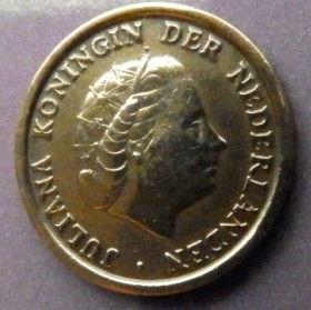 1 Цент, 1951 года, Нидерланды, Монета, Монеты, 1Сent1951, NEDERLAND,Королева Юлианана монете.