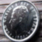 10 Песет, 1984 года, Испания, Монета, Монеты, 10 Diez Pesetas 1984, Espana,Spain,Герб,Фауна,Lion,Лев, Корона, Crown на монете,КорольХуан Карлос I на монете.