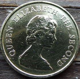10 Центов, 1983 года, Гонконг, Монета, Монеты, 10 Ten Cents 1983, Hong-Kong,Королева Elizabeth II, Елизавета IIна монете, Второй портрет королевы.