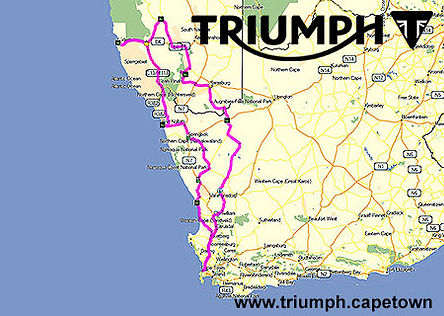 9 Day Triumph Motorcycle Tour of Namibia & South Africa