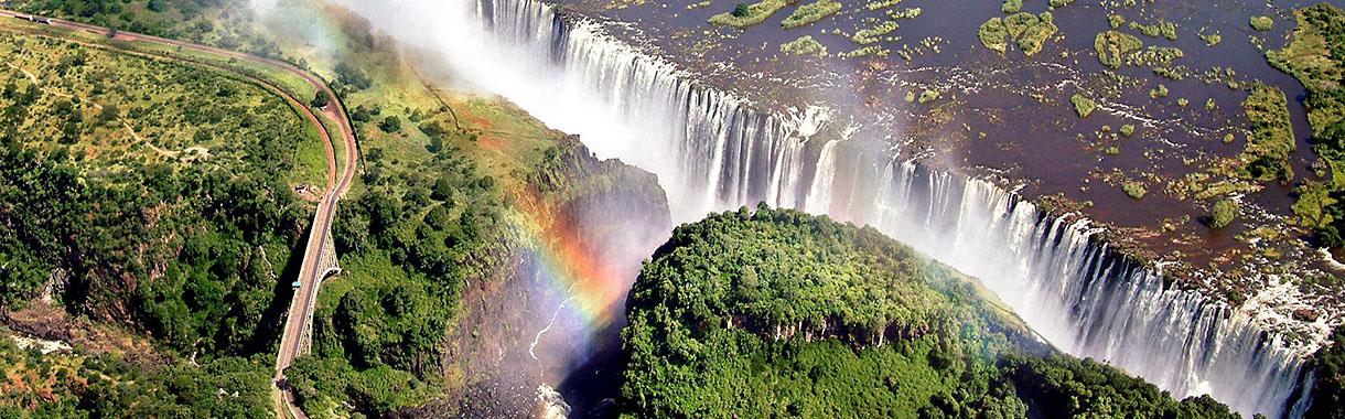 Victoria Falls, Aerial