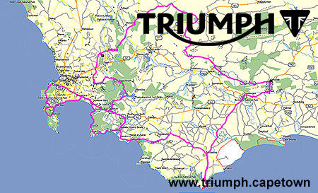 3 Day Triumph Motorcycle Tour Cape Peninsular and Route 62