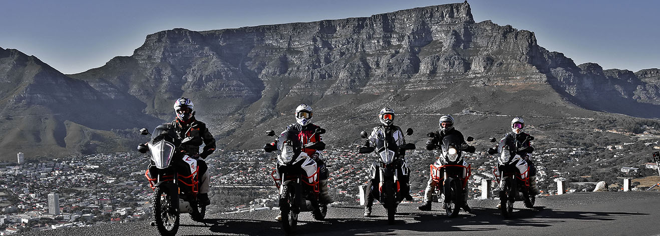 KTM Motorcycle hire in Cape Town