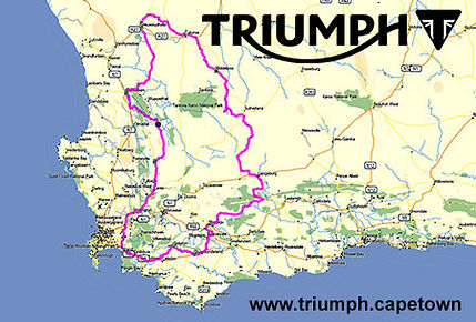 4 Day Triumph Motorcycle Tour in The Cederberg & Karoo