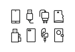 phone-accessories-icon-pack-vector