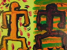 Keith Haring inspired painting on canvas