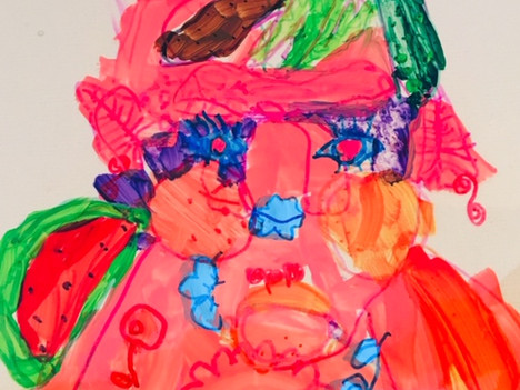 Arciboldo inspired self portraits - 5-7 year olds